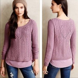 Anthro Moth Knit layered sweater. Size large
